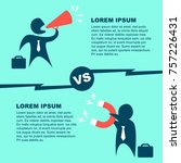 marketing strategy comparison...   Shutterstock .eps vector #757226431
