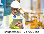 senior engineer man in suit and ... | Shutterstock . vector #757229455