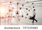 elegant businessman in 3d... | Shutterstock . vector #757229485