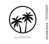 coconut tree icon.vector...   Shutterstock .eps vector #757232047