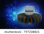 3d rendering documents copying... | Shutterstock . vector #757238821