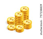 isometric money isolated on... | Shutterstock . vector #757238839