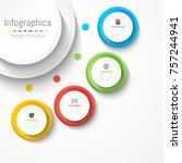 infographic design elements for ... | Shutterstock .eps vector #757244941
