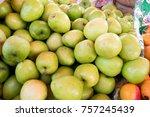 jujube in fresh market | Shutterstock . vector #757245439