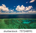 aerial view of moore reef on... | Shutterstock . vector #757248991