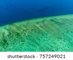 aerial view of moore reef on... | Shutterstock . vector #757249021