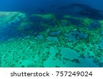 aerial view of moore reef on... | Shutterstock . vector #757249024
