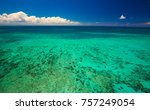 aerial view of moore reef on... | Shutterstock . vector #757249054