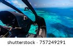 helicopter ride over moore reef ...   Shutterstock . vector #757249291