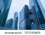moscow city. skyscrapers.... | Shutterstock . vector #757255855