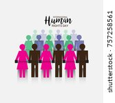 vector illustration of a banner ... | Shutterstock .eps vector #757258561