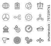 thin line icon set   globe ... | Shutterstock .eps vector #757259761