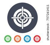 target vector icon | Shutterstock .eps vector #757261411