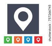 location pin icon | Shutterstock .eps vector #757266745