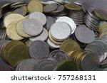 baht coins   two baht thai.   Shutterstock . vector #757268131