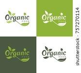 organic food logo | Shutterstock .eps vector #757270114