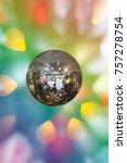 christmas decoration on... | Shutterstock . vector #757278754