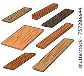 vector set of plywood   Shutterstock .eps vector #757286644