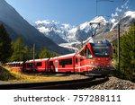 switzerland  train in front of... | Shutterstock . vector #757288111
