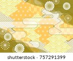 japanese style background... | Shutterstock .eps vector #757291399
