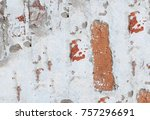 abstract multicolor grunge... | Shutterstock . vector #757296691