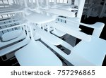 abstract dynamic interior with... | Shutterstock . vector #757296865