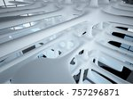abstract dynamic interior with... | Shutterstock . vector #757296871