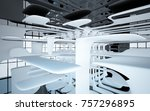 abstract dynamic interior with... | Shutterstock . vector #757296895