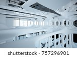 abstract dynamic interior with... | Shutterstock . vector #757296901