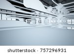 abstract dynamic interior with... | Shutterstock . vector #757296931