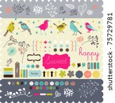 scrapbook elements that you... | Shutterstock .eps vector #75729781