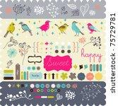 scrapbook elements that you... | Shutterstock .eps vector #75729781