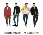vector illustration of four... | Shutterstock .eps vector #757300879