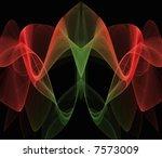 christmas flower fractal | Shutterstock . vector #7573009