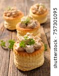 puff pastry stuffed with... | Shutterstock . vector #757301095