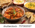 chicken with cream and spice | Shutterstock . vector #757303537