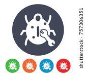 bug fixing icon   Shutterstock .eps vector #757306351