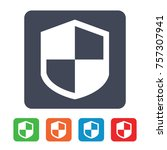 protection shield icon   Shutterstock .eps vector #757307941