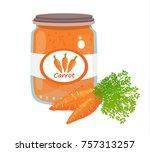 carrot puree vector | Shutterstock .eps vector #757313257