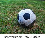 Small photo of Ball, old ball, football