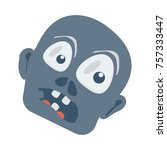 zombie flat icon | Shutterstock .eps vector #757333447