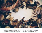 dried scented flower  the way... | Shutterstock . vector #757336999