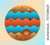 planet jupiter  the object of... | Shutterstock .eps vector #757338625