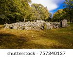 clava cairns or the prehistoric ... | Shutterstock . vector #757340137