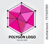 set of geometric shapes unusual ... | Shutterstock .eps vector #757345585
