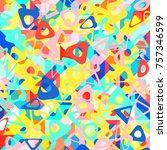 abstract 1980 memphis geometric ...   Shutterstock .eps vector #757346599