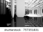 abstract dynamic interior with... | Shutterstock . vector #757351831