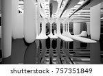 abstract dynamic interior with... | Shutterstock . vector #757351849