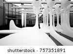 abstract dynamic interior with... | Shutterstock . vector #757351891