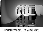 abstract dynamic interior with... | Shutterstock . vector #757351909